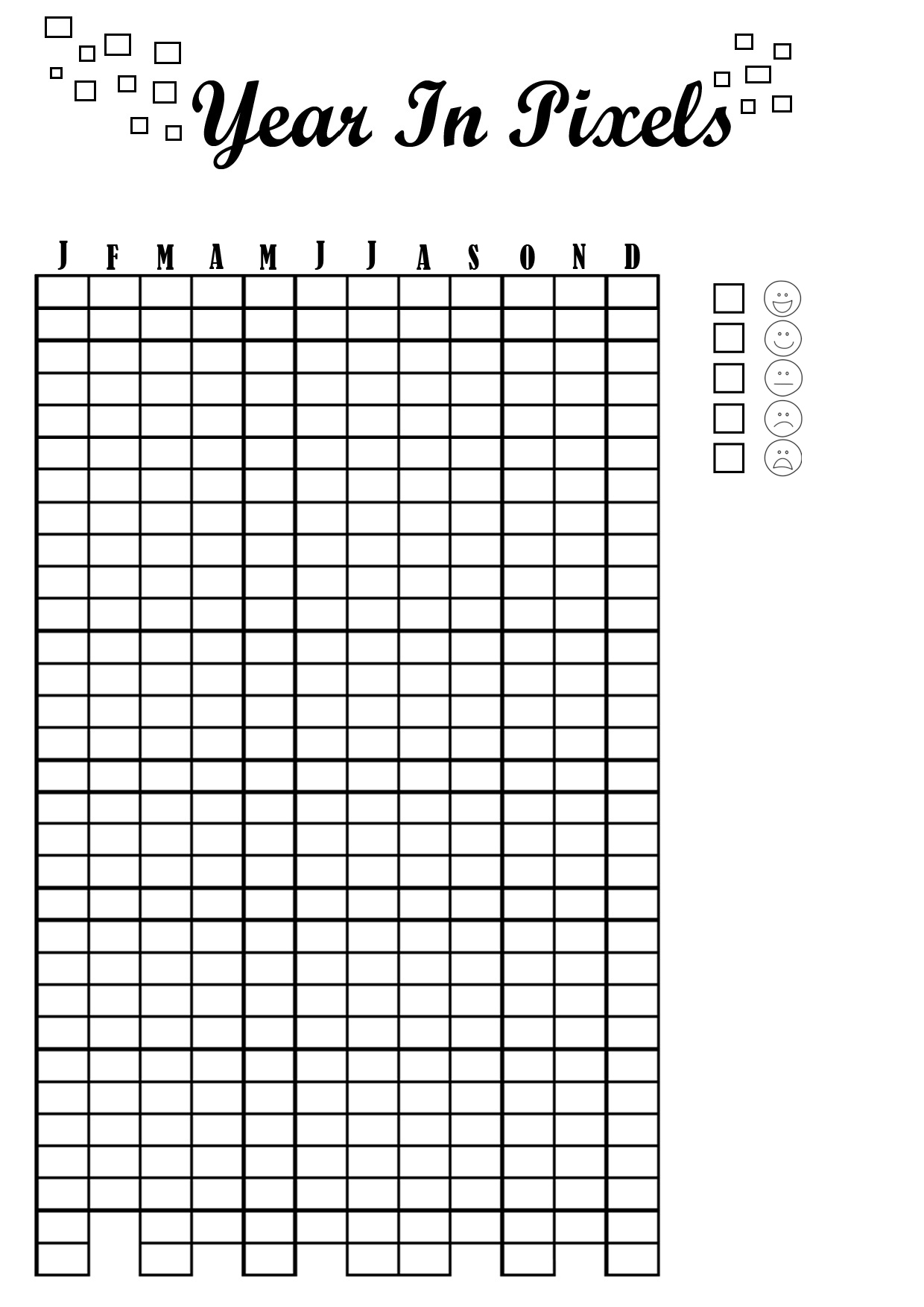 picture about Year in Pixels Printable titled Calendar year inside Pixels! Do it yourself Printables