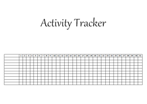 diy activity tracker track your daily habits activities in your