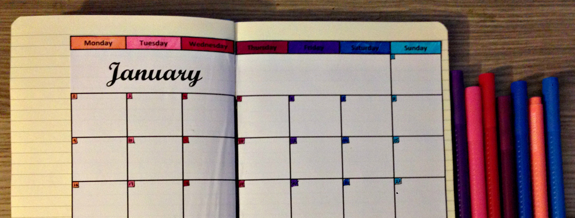 Diy Calendar January : Diy calendar for your bullet journal printables