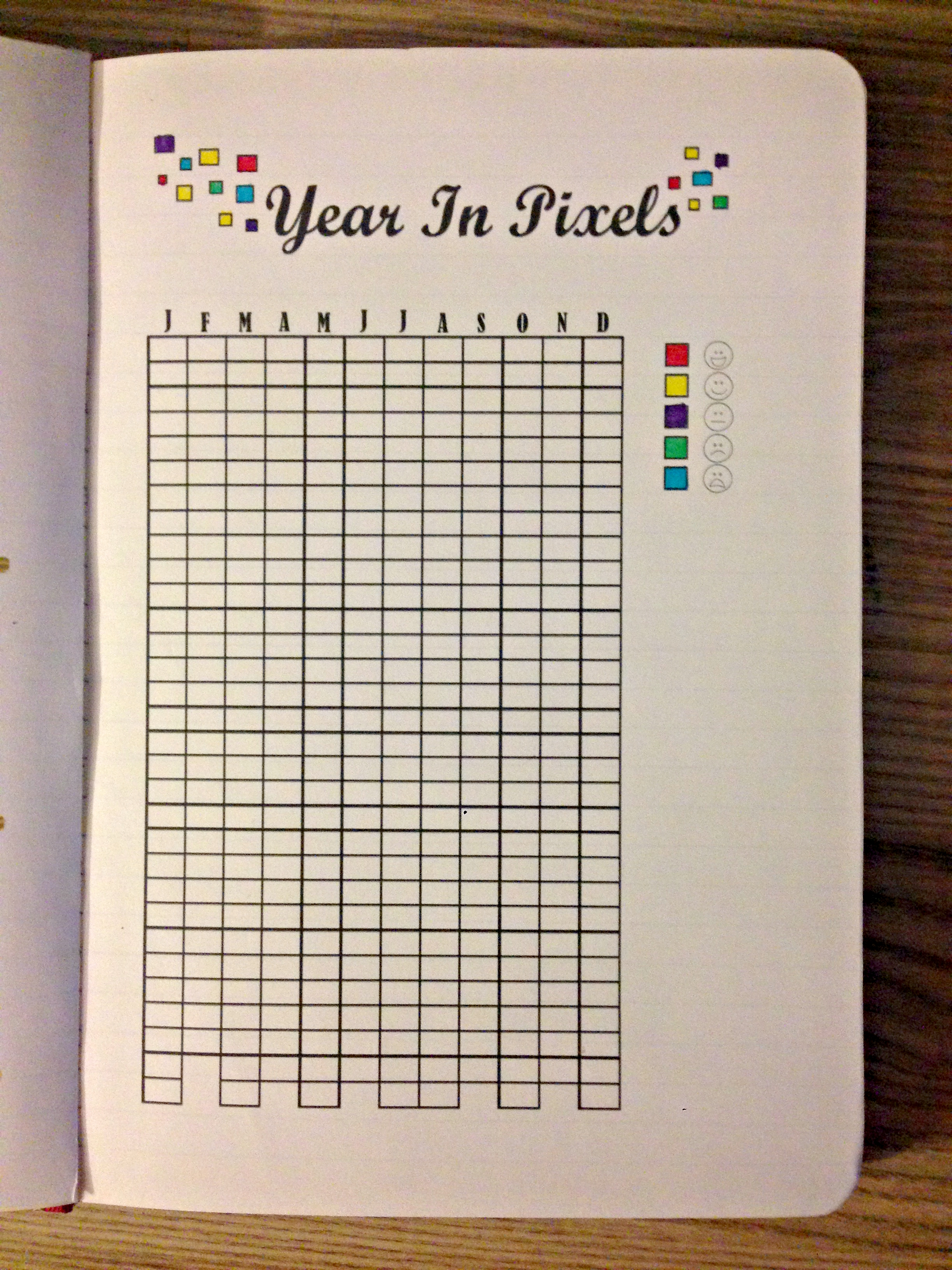 photograph about Year in Pixels Printable named 12 months in just Pixels! Do-it-yourself Printables