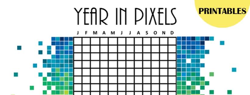 Versatile image inside year in pixels printable